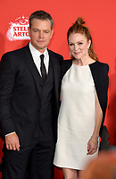 Matt Damon &amp; Julianne Moore at the premiere for &quot;Suburbicon&quot; at the Regency Village Theatre, Westwood. Los Angeles, USA 22 October  2017<br /> Picture: Paul Smith/Featureflash/SilverHub 0208 004 5359 sales@silverhubmedia.com