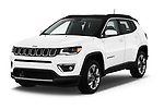 2018 Jeep Compass Limited 5 Door SUV angular front stock photos of front three quarter view