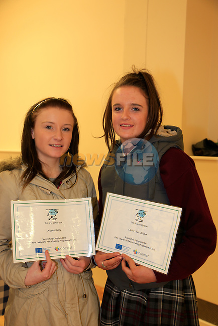 Rachel Keys and Casey Barnett at the Boyne Garda Youth Project awards night<br /> Picture: Fran Caffrey www.newsfile.ie