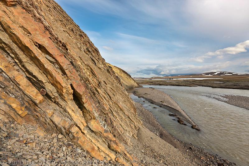 Chert deposits at Nigu bluff, Nigu river, National Petroleum Reserve, Alaska.