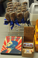 """A """"chocolate Obama"""" on sale at an inauguration memorabilia store near the White House in Washington, DC on January 13, 2008."""