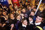 Skills Active Cymru<br /> Magician Adam Reeves proving popular with students.<br /> Cardiff International Arena<br /> 23.10.14<br /> &copy;Steve Pope-FOTOWALES