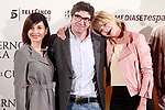 Spanish director, Norberto L&oacute;pez Amado (c) and the actresses<br /> Bel&eacute;n Rueda (r) and Marian &Aacute;lvarez (l) during the photocall of presentation of the film 'El cuaderno de Sara'. January 30, 2018. (ALTERPHOTOS/Acero)