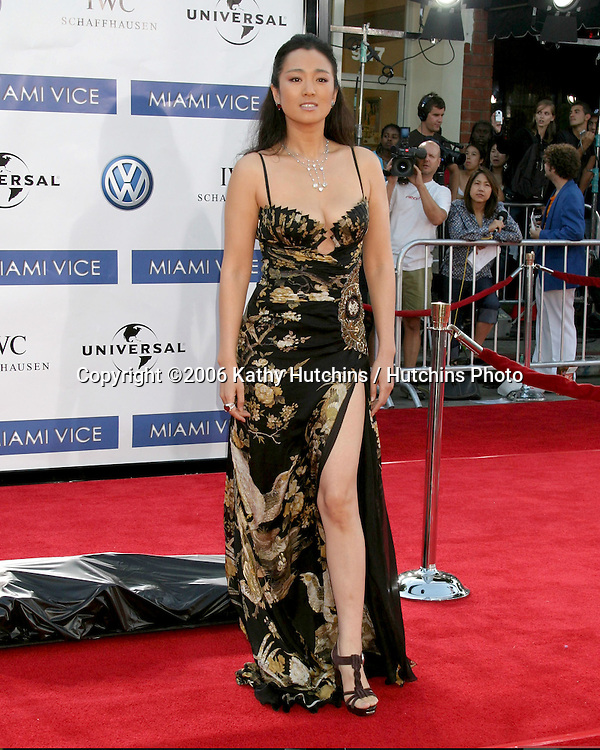 "Gong Li.""Miami Vice"" Premiere.Mann's Village Theater.Westwood, CA.July 20, 2006.©2006 Kathy Hutchins / Hutchins Photo...."