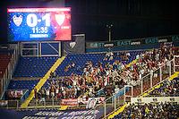 VALENCIA, SPAIN - SEPTEMBER 11: Sevilla fans during BBVA LEAGUE match between Levante U.D. And Sevilla C.F. at Ciudad de Valencia Stadium on September 11, 2015 in Valencia, Spain