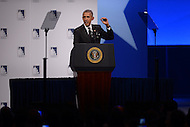 Washington, DC - October 8, 2015: U.S. President Barack Obama addresses attendees of the Congressional Hispanic Caucus Institute's annual Awards Gala held at the Washington Convention Center in the District of Columbia, October 8, 2015.  (Photo by Don Baxter/Media Images International)