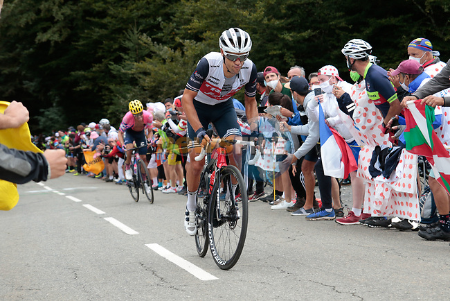 Richie Porte (AUS) Trek-Segafredo climbs Col de Marie Blanque during Stage 9 of Tour de France 2020, running 153km from Pau to Laruns, France. 6th September 2020. <br /> Picture: Colin Flockton   Cyclefile<br /> All photos usage must carry mandatory copyright credit (© Cyclefile   Colin Flockton)