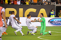 East Rutherford, NJ - Friday June 17, 2016: David Ospina celebrates  after a Copa America Centenario quarterfinal match between Peru (PER) vs Colombia (COL) at MetLife Stadium.