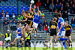 Tommy Walsh  Kerins O Rahillys takes the ball from Johnny Buckley Dr Crokes during their County Championship clash in Fitzgerald Stadium on Sunday