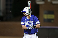 Drew Fopeano (44) of the High Point Panthers at bat against the NJIT Highlanders during game two of a double-header at Williard Stadium on February 18, 2017 in High Point, North Carolina.  The Highlanders defeated the Panthers 4-2.  (Brian Westerholt/Four Seam Images)