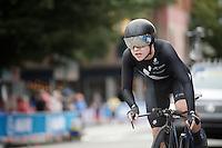 Linda Villumsen (NZL) speeding her way to a Worlds title<br /> <br /> Women TT<br /> UCI Road World Championships / Richmond 2015