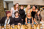 Staff of Buddies Childcare, Ballyduff enjoying their Christmas party on Saturday night, at No. 4 the Square front l-r  Laura Healy, Mairead Flaherty, Elaine Galvin, Pari Garcia, Marie Enright, Jackie Bishop, Sharon Kirby and Tara McDonald