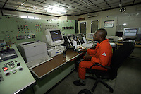 Shell operations in Niger Delta. Control room of Bonny oil terminal from where oil is exported. © Fredrik Naumann