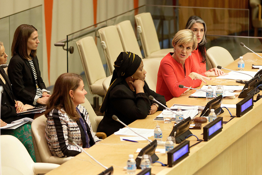 Australian Minister for Foreign Affairs Julie Bishop during the Making Every Woman and Girl Count Event  at UN Headquarters in New York, Wednesday September 21, 2016. photo by Trevor Collens/DFAT