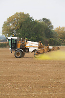 Pre-emergence spraying on Winter Wheat in Lincolnshire<br /> &copy;Tim Scrivener Photographer 07850 303986<br />      ....Covering Agriculture In The UK....