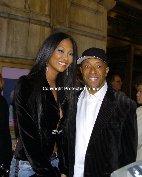 "Kimora Lee Simmons and Russell Simmons..at The Broadway opening night of ""Steel Magnolias"" ..on April 4, 2005 at The Lyceum Theatre. ..Photo by Robin Platzer, Twin Images"