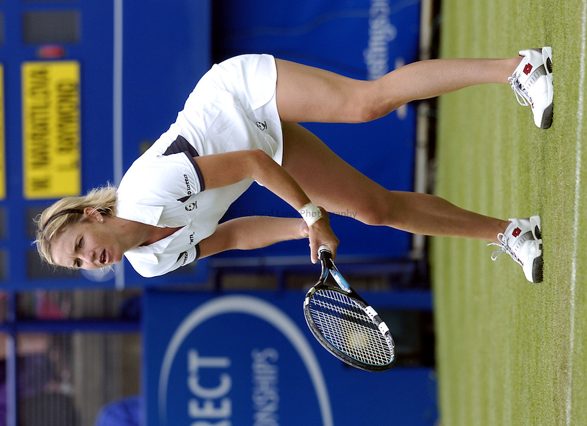 Photo: Richard Lane..Hastings Direct International Championship at Eastbourne. 15/06/2004..Samantha Reeves of USA.