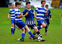 Action from the football match between St Kentigern and Auckland Normal Intermediate during the AIMS games at Bay Arena in Mount Maunganui, New Zealand on Thursday, 14 September 2017. Photo: Dave Lintott / lintottphoto.co.nz