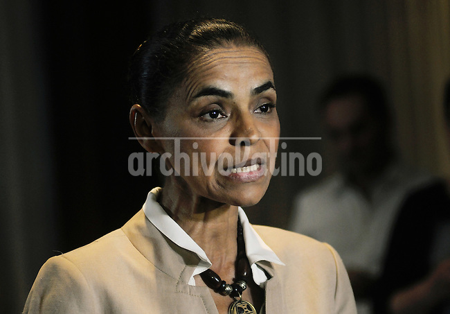 Presidential candidate of the Brazilian Socialist Party, Marina Silva smiles during a press conference, Rio de Janeiro, Brazil, Sept. 17, 2014. Brazil's general elections will be on Oct. 5.