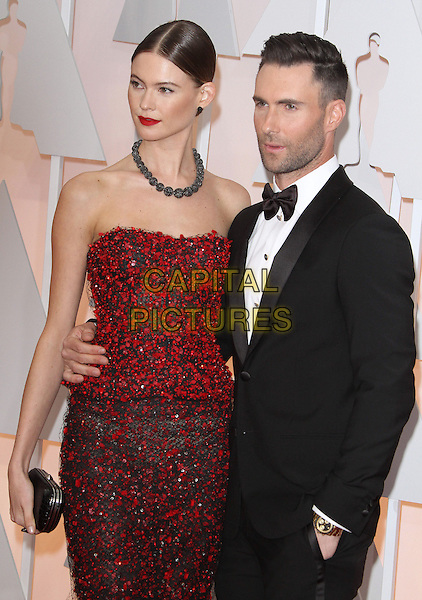 22 February 2015 - Hollywood, California - Adam Levine, Behati Prinsloo. 87th Annual Academy Awards presented by the Academy of Motion Picture Arts and Sciences held at the Dolby Theatre. <br /> CAP/ADM<br /> &copy;AdMedia/Capital Pictures Oscars