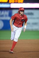 Williamsport Crosscutters designated hitter Alec Bohm (5) runs the bases during a game against the Mahoning Valley Scrappers on August 28, 2018 at BB&T Ballpark in Williamsport, Pennsylvania.  Williamsport defeated Mahoning Valley 8-0.  (Mike Janes/Four Seam Images)