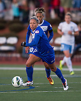 Boston Breakers forward Kyah Simon (17) breaks across the field.  In a National Women's Soccer League Elite (NWSL) match, the Boston Breakers defeated  Chicago Red Stars 4-1, at the Dilboy Stadium on May 4, 2013.