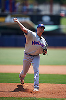 Midland RockHounds pitcher Seth Frankoff (45) delivers a pitch during a game against the Tulsa Drillers on June 3, 2015 at Oneok Field in Tulsa, Oklahoma.  Midland defeated Tulsa 5-3.  (Mike Janes/Four Seam Images)