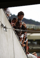 India supporters wait for their team to walk out onto the Caketin during 2nd Twenty20 cricket match match between New Zealand Black Caps and West Indies at Westpac Stadium, Wellington, New Zealand on Friday, 27 February 2009. Photo: Dave Lintott / lintottphoto.co.nz