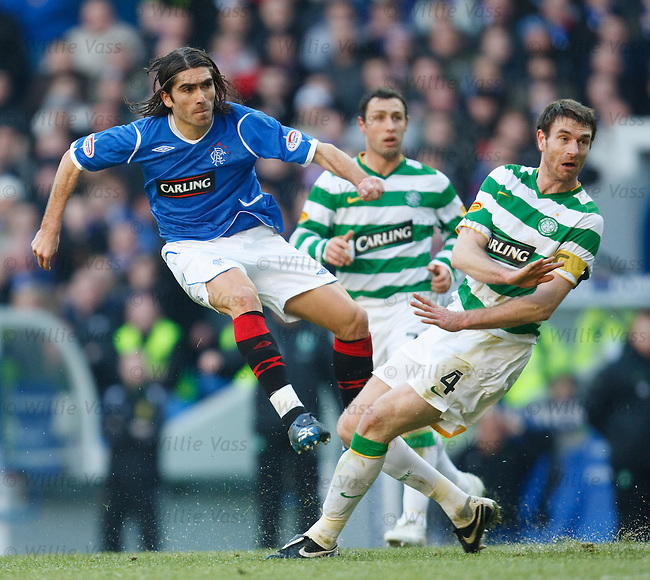 Pedro Mendes cracks a shot past Stephen McManus