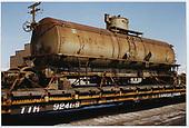 3/4 view of WP &amp; YR tank car #64 at Alamosa.<br /> C&amp;TS  Alamosa, CO