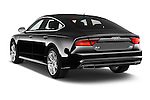 Car pictures of rear three quarter view of a 2015 Audi A7 S Line 5 Door Hatchback Angular Rear