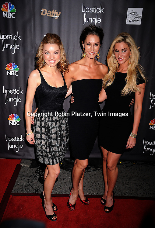 """The 3 Graces.at The """"Lipstick Jungle"""" party for the premiere of the new NBC Show at Saks Fifth Avenue on January 31, 2008 in .New York City. .Robin Platzer, Twin Images"""