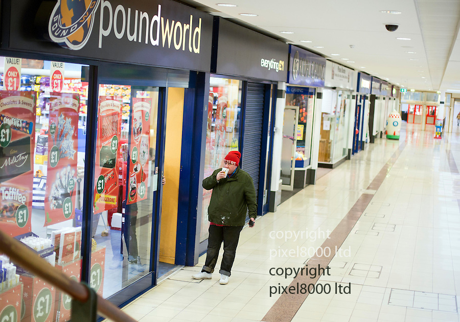 "Pic shows: Black Friday ""fever"" seems to have missed Hartlepool, County Durham<br /> <br /> Plenty of staff were out to welcome early bird shoppers at the town's main shopping centre Middleton Grange.<br /> <br /> Also lots of discounts were available up to 70% but the locals failed to appear.<br /> <br /> <br /> <br /> <br /> Pic by Gavin Rodgers/Pixel 8000 Ltd"