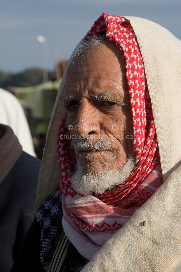 Tripoli, Libya - Old Libyan Man in Traditional Clothes.