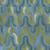 Kasbah, a waterjet mosaic shown in Mica, Peacock Topaz, and Peridot jewel glass, is part of the Silk Road® collection by New Ravenna.
