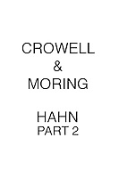 Crowell & Moring HAHN PART 2