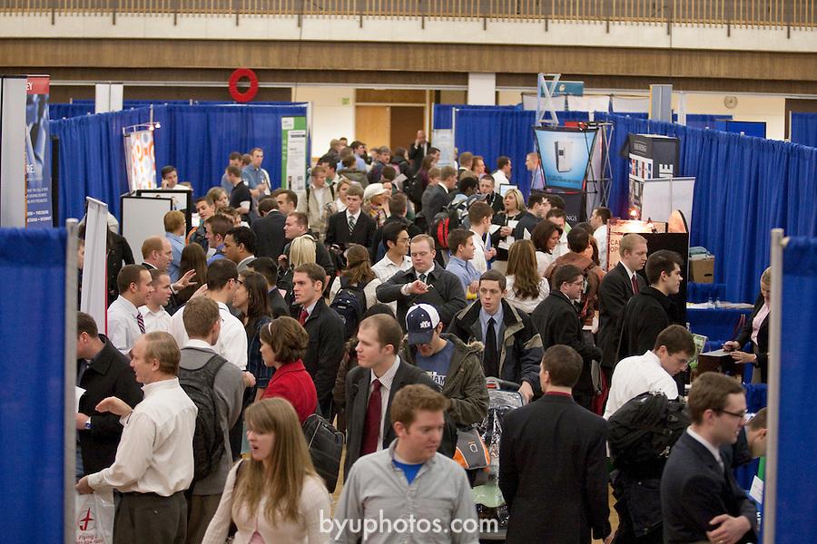0801-35 029.CR2..0801-35 Career Fair..January 30, 2008..Photo by Jaren Wilkey/BYU..© BYU Photo 2008.All Rights Reserved.photo@byu.edu  (801)422-7322