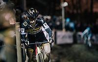 Lars van der Haar (NED/Telenet Fidea Lions)<br /> <br /> Elite Men's Race<br /> Superprestige Diegem / Belgium 2017