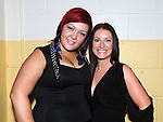 Kate Mahon and Tracey Flanagan pictured at the Tullyallen white collar boxing. Photo: Colin Bell/pressphotos.ie