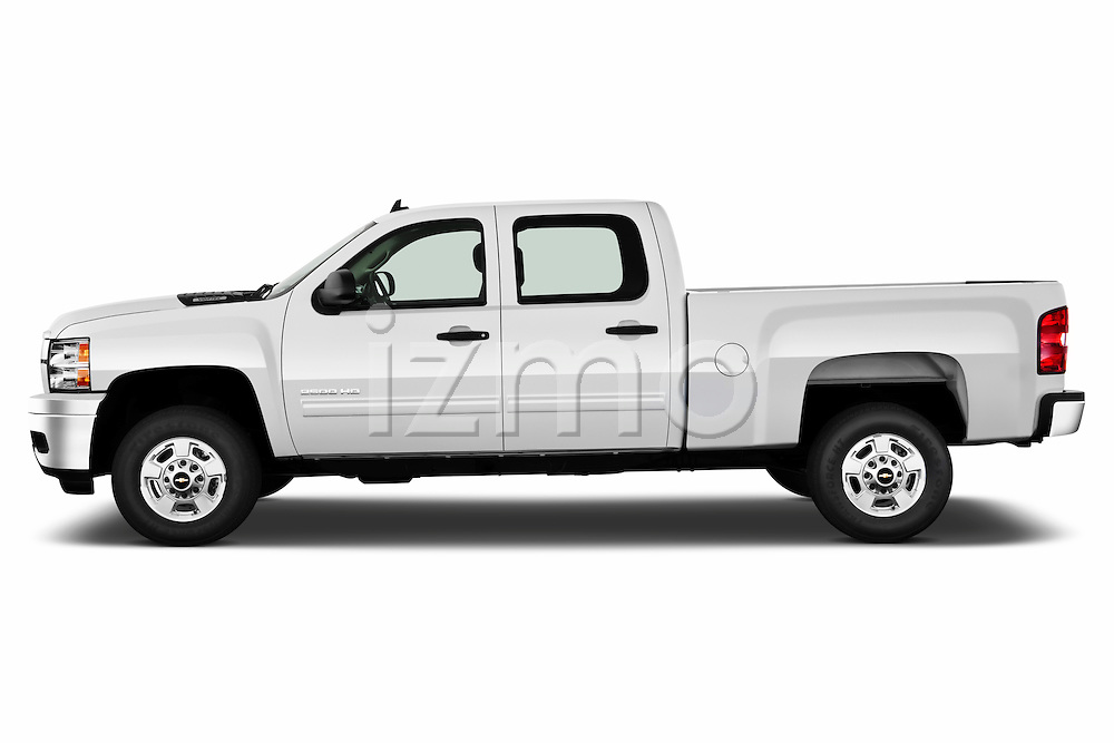 Driver side profile view of a 2011 Chevrolet Silverado 2500LT Crew Cab.