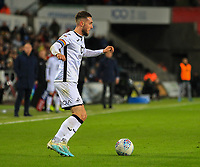 29th November 2019; Liberty Stadium, Swansea, Glamorgan, Wales; English Football League Championship, Swansea City versus Fulham; Matt Grimes of Swansea City brings the ball forward - Strictly Editorial Use Only. No use with unauthorized audio, video, data, fixture lists, club/league logos or 'live' services. Online in-match use limited to 120 images, no video emulation. No use in betting, games or single club/league/player publications