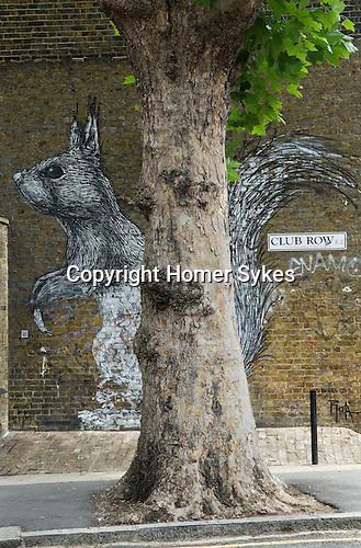 Club Row  Urban Stencilart Street Art east London UK