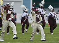 September 1, 2012  (Washington, DC) The Morehouse Marching band performs at the 2012 AT&T Football Classic. Howard won 29-30 in the last 22 seconds of the game.   (Photo by Don Baxter/Media Images International)