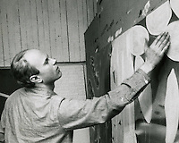 James Rosenquist in his studio.