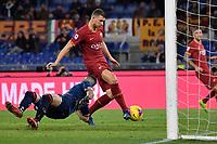 Edin Dzeko of AS Roma scores the goal of 3-0 <br /> Roma 23/02/2020 Stadio Olimpico <br /> Football Serie A 2019/2020 <br /> AS Roma - Lecce<br /> Photo Andrea Staccioli / Insidefoto