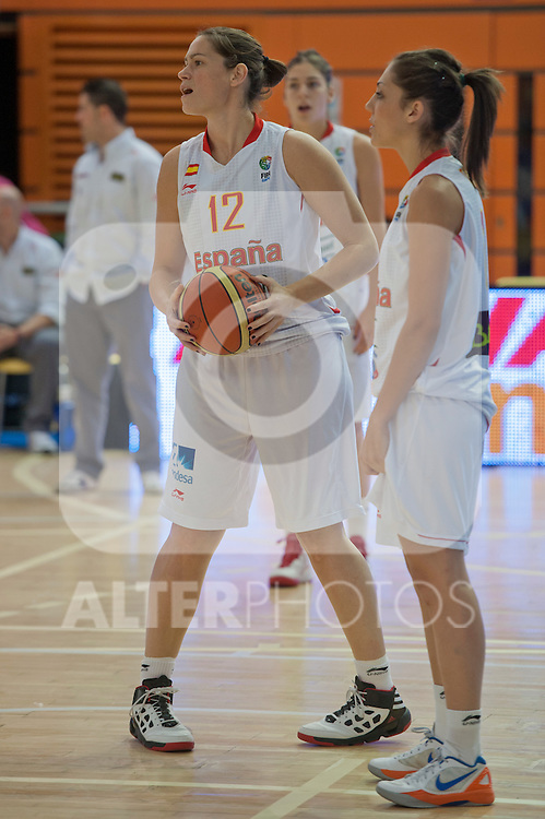Spain team´s Anna Montañana during Euro Basket Women Spain vs Sweden