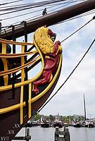 Nederland-  Amsterdam - 2019. Scheepvaartmuseum. Boegbeeld van VOC schip de Amsterdam.   Foto mag niet in negatieve / schadelijke context gepubliceerd worden.    Foto Berlinda van Dam / Hollandse Hoogte