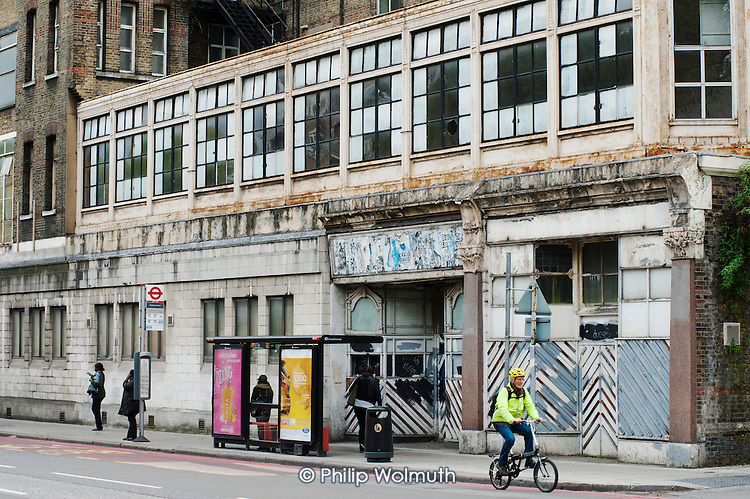 The empty and derelict National Temperance Hospital in Camden, on the site of the HS2 high speed rail line out of nearby Euston station.
