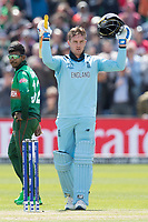 Jason Roy (England) acknowledges his century during England vs Bangladesh, ICC World Cup Cricket at Sophia Gardens Cardiff on 8th June 2019