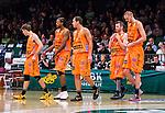 S&ouml;dert&auml;lje 2014-10-01 Basket Basketligan S&ouml;dert&auml;lje Kings - Norrk&ouml;ping Dolphins :  <br /> Norrk&ouml;ping Dolphins Joakim Kjellbom deppar med Toni Prostran , Dominique Morrison , Tomas Gaidamavicius och Mikael Lindquist <br /> (Foto: Kenta J&ouml;nsson) Nyckelord:  S&ouml;dert&auml;lje Kings SBBK T&auml;ljehallen Norrk&ouml;ping Dolphins depp besviken besvikelse sorg ledsen deppig nedst&auml;md uppgiven sad disappointment disappointed dejected